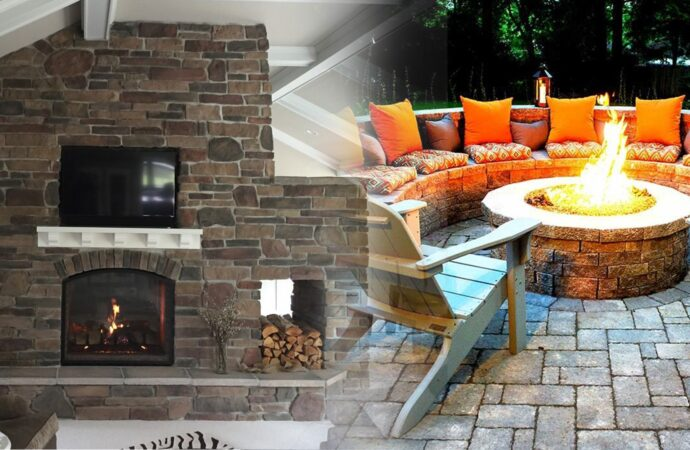 Outdoor Fireplaces & Fire Pits-Grand Prairie TX Landscape Designs & Outdoor Living Areas-We offer Landscape Design, Outdoor Patios & Pergolas, Outdoor Living Spaces, Stonescapes, Residential & Commercial Landscaping, Irrigation Installation & Repairs, Drainage Systems, Landscape Lighting, Outdoor Living Spaces, Tree Service, Lawn Service, and more.